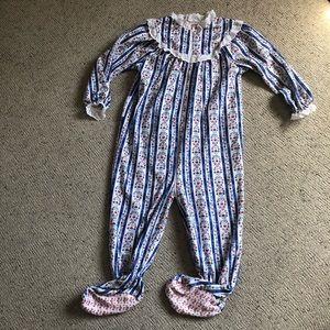Vintage lanz originals of Salzburg footie pajamas
